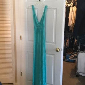 Gorgeous turquoise strapped maxi dress! NWT